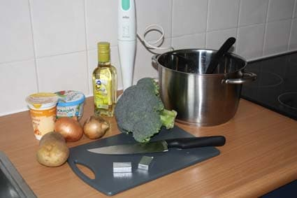 ingredienten voor romige broccolisoep