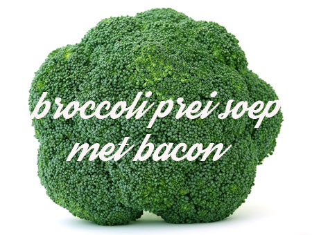 broccoli prei soep met bacon